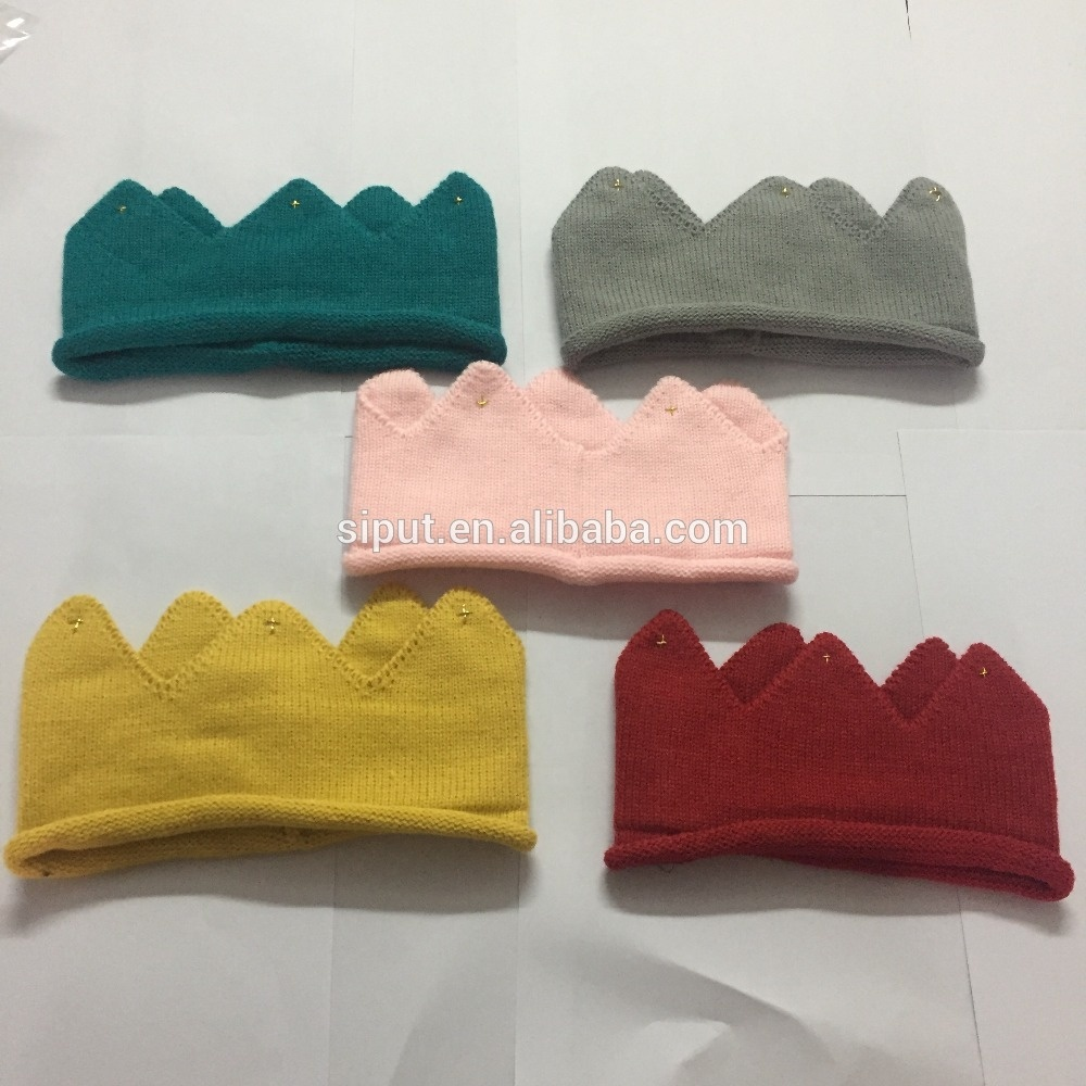 creative baby crown <strong>headband</strong> colorful kids warm <strong>headband</strong>