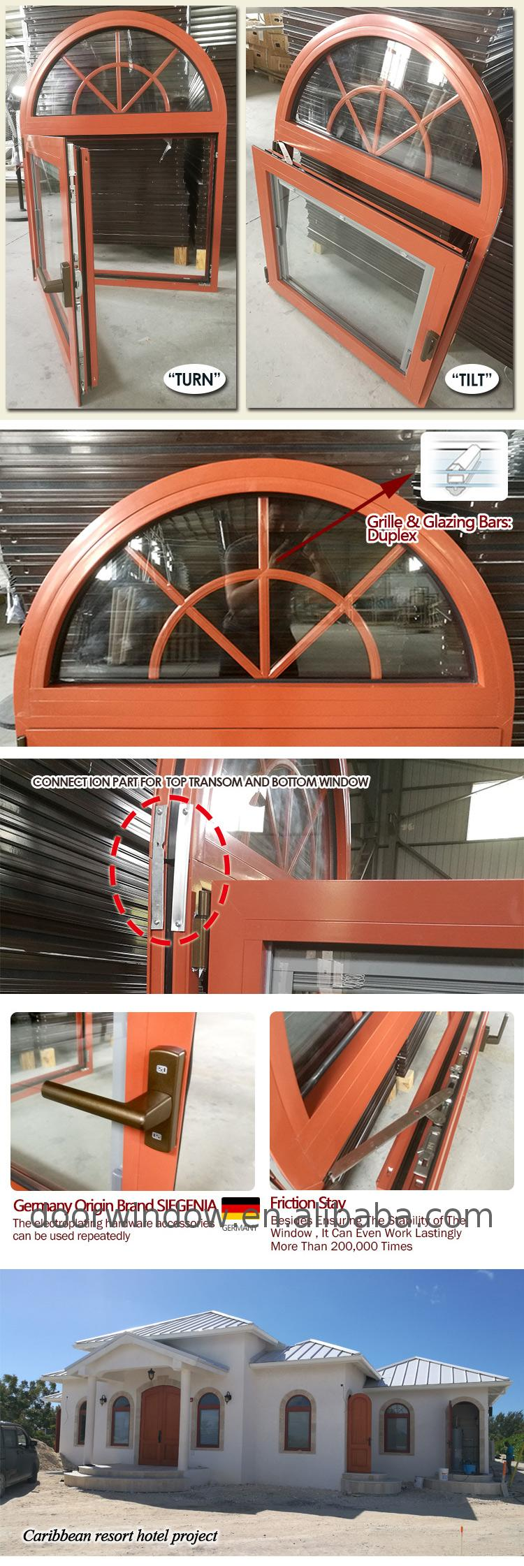 Decorative window custom frames curved windows