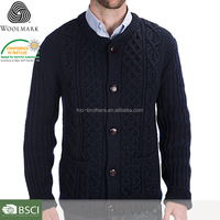 Men cardigan without buttons, with zipper knitwear cardigan manufacturers