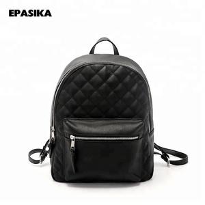 3e715574cb EPASIKA teenage girls female school bag black leisure laptop bagpack  fashion pu leather mini backpack for