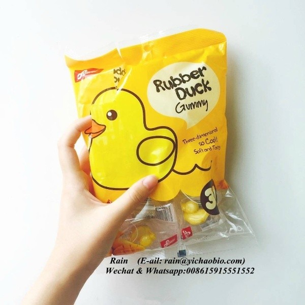 FUWEI 3D Duck Gummy Candy Rubber Duck
