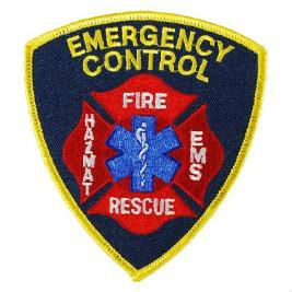 Fire Embroidered Patch-Emergency Control, Fire,EMS, Rescue, Hazmat