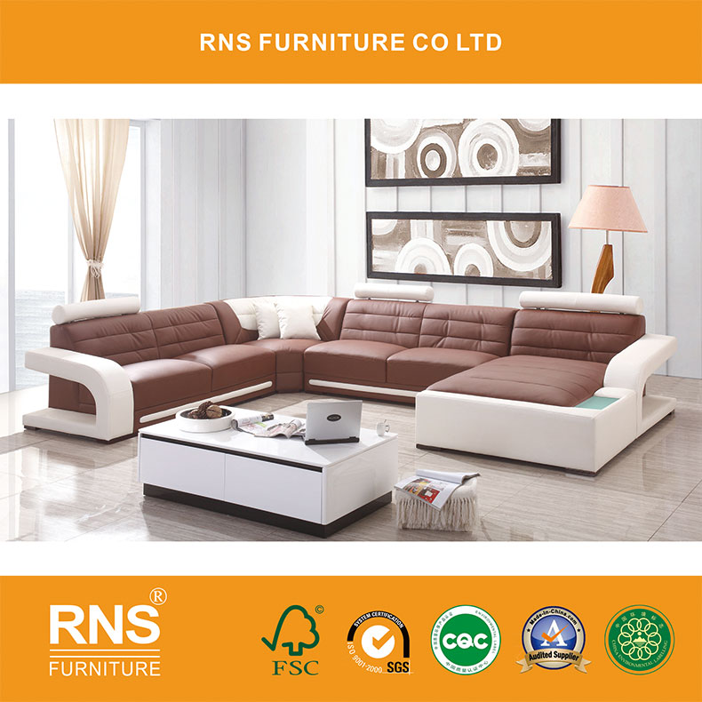 D8001 Modern appearance living room Comfortable leather <strong>sofa</strong>
