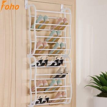 24 Pair Over Door Shoe Shelves 8 Tiers To Hanger On Door(FH SR00488