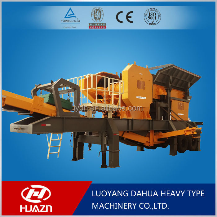 Luoyang Dahua rubber tyred mobile crusher equipment characteristics and technical advantages YD mobile crushing plant