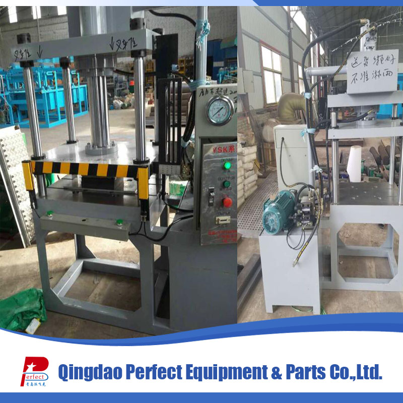 With edge cutting function paper shoe tree and egg carton box reforming machine