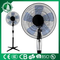 "new style 16"" metallic stand fan with light"
