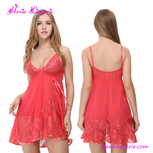 Cheaper Lady Halter Nightwear Big Size Lingerie Fantasy Nightwear Sexy Babydoll