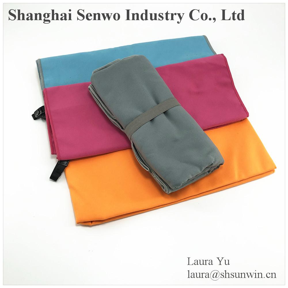 Alta qualidade impressos personalizados camurça toalha de microfibra super absorvente toalha do esporte do microfiber Coréia