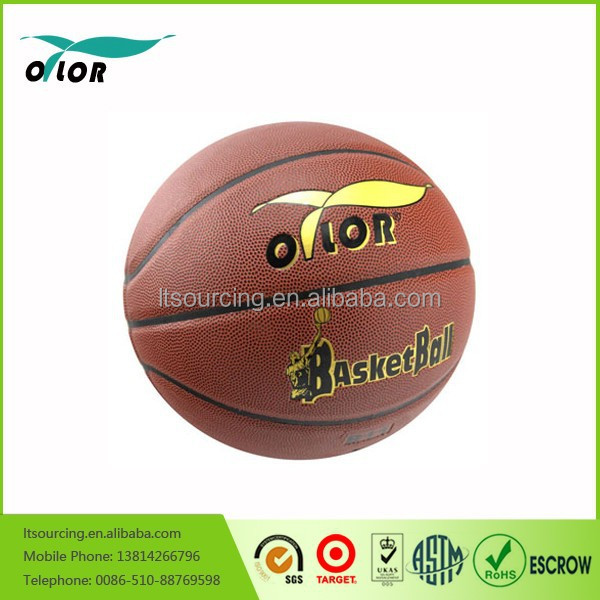 Wholesale official size and weight colorful no stitch laminated teams basketball cheap