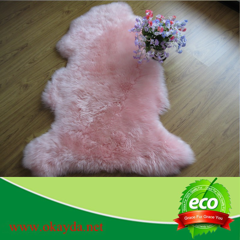 Sheep skin prayer rug/Wholesale pray rug/ China carpet manufacturer sheepskin rug