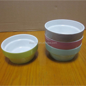 4pcs Set Solid Color Stackable Salad Bowl,Cereal Bowl With Iron ...