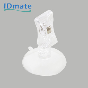 Round Base Plastic Clip Supermarket Display Sign Holder