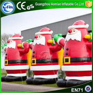 Giant standing santa inflatable santa claus xmas inflatables for sale