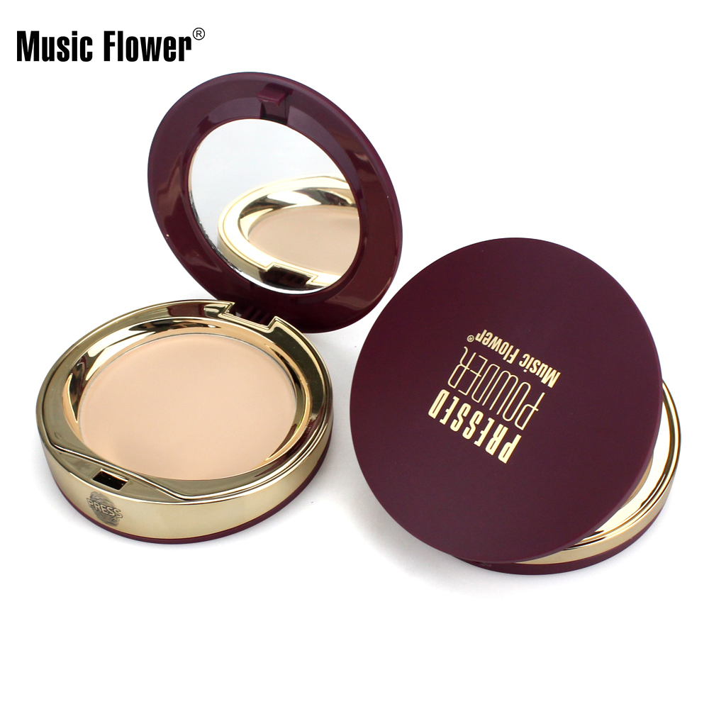 Music Flower Concealer Cream <strong>Face</strong> Base Foundation Oil Control Contour Palette Mineral Pressed Powder Makeup Set