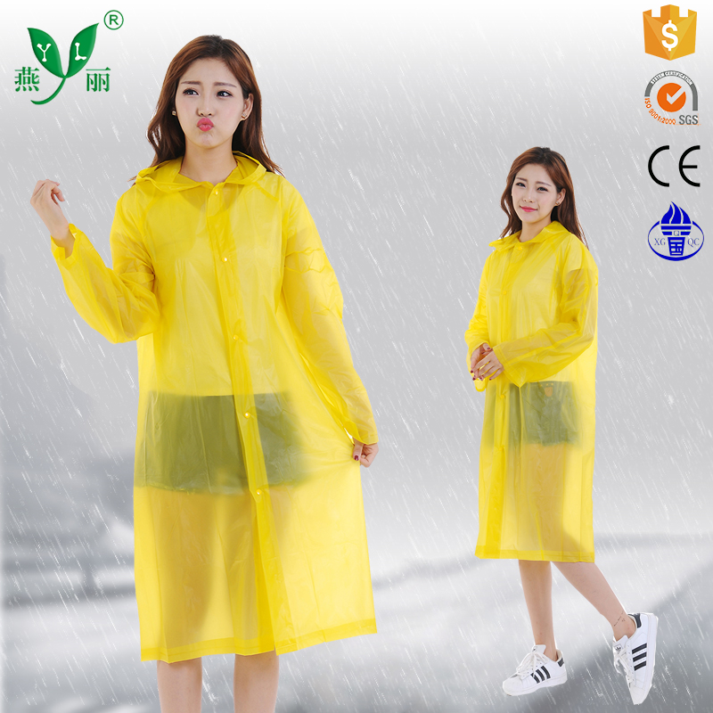 full printed yellow rain poncho /rainponcho/raincoat/ rain coat