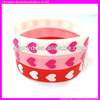 Promotional Items Printing Thin Make Rubber Band Bracelet