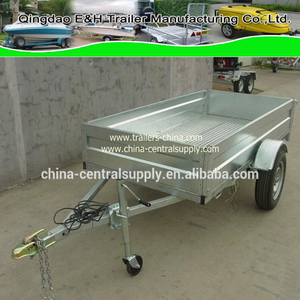 Factory supply Hydraulic /Merchanical Brake Galvanized Cage and Box trailer CT0085A
