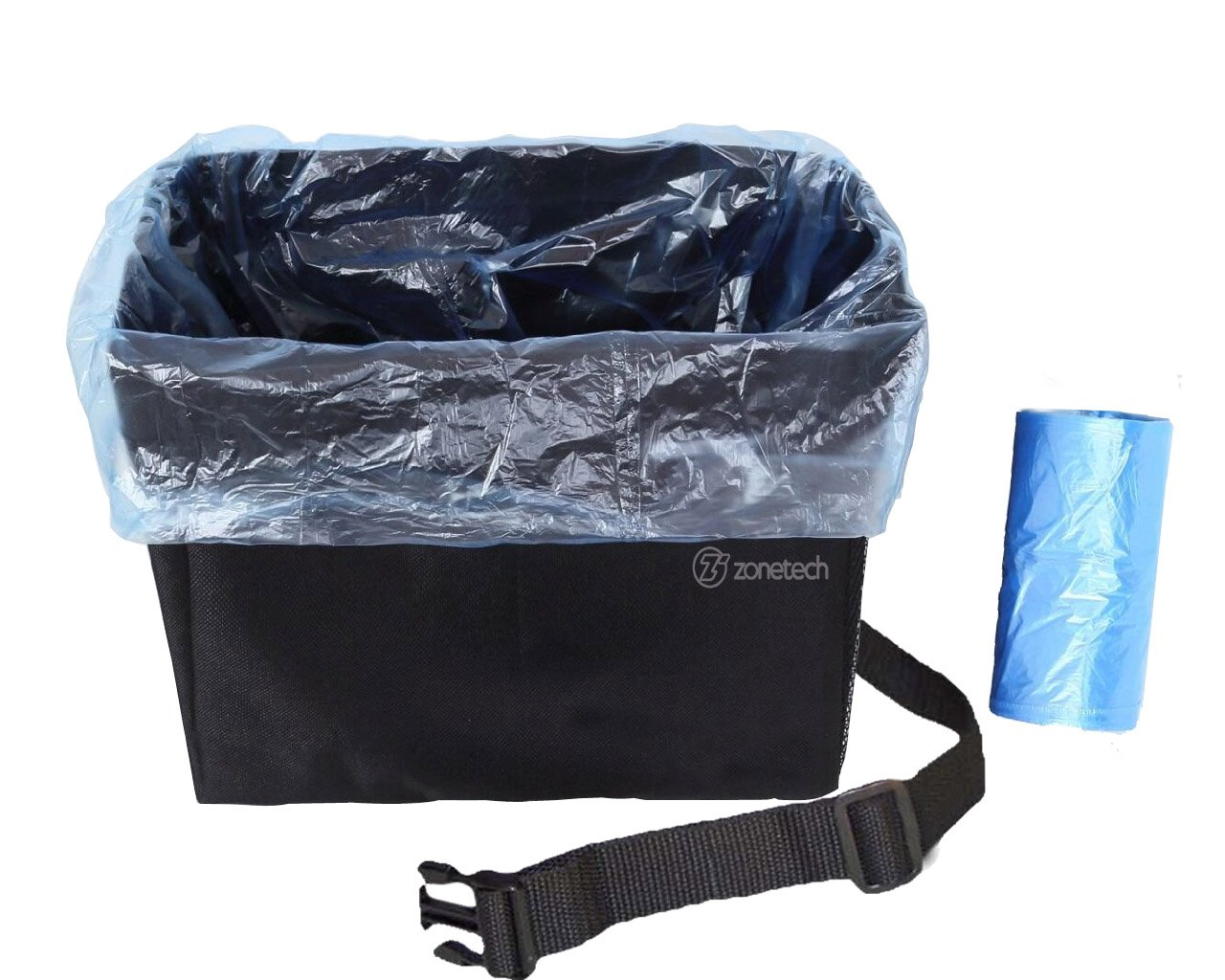 Get Quotations Car Garbage Can Litter Bag Zone Tech Waterproof Interior Headrest Trash Traveling Seatback