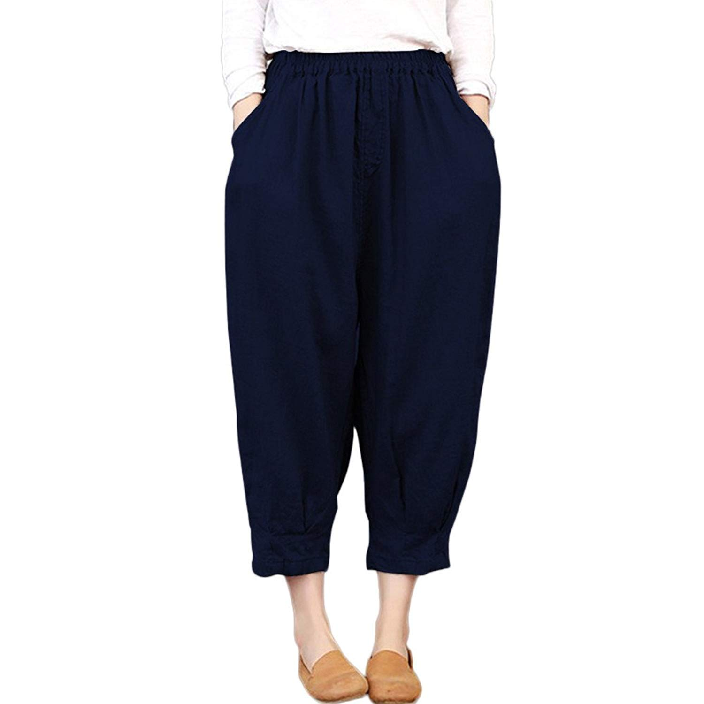 7b9f47d79df Get Quotations · Clearance Sale! Women Pants,Farjing Women Thin  Ankle-Length Harem Trousers Capris Loose
