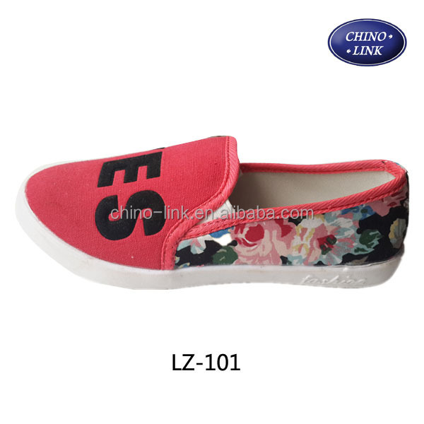 Cheapest latest slip-on wholesale woman beijing shoes canvas