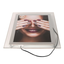 Manufacture Energy Saving Transparent Advertising Led Picture Frame Crystal Light Box Acrylic