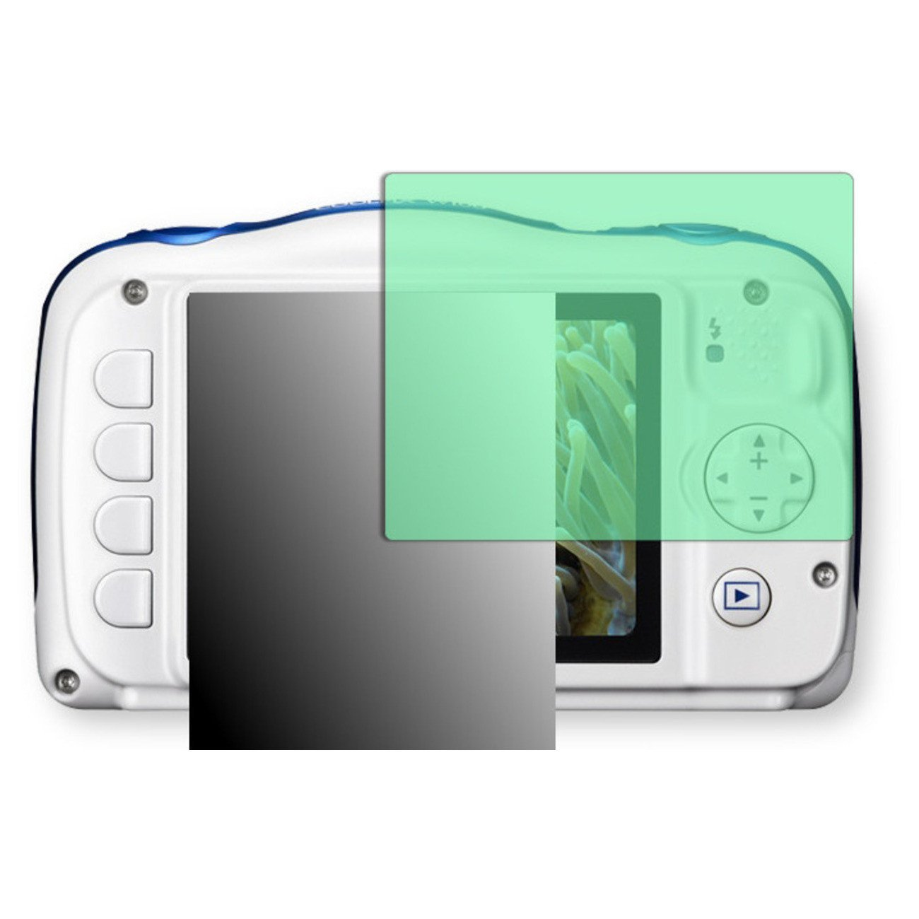 Golebo Screen Film for Privacy protection green for Nikon COOLPIX W100 - PREMIUM QUALITY