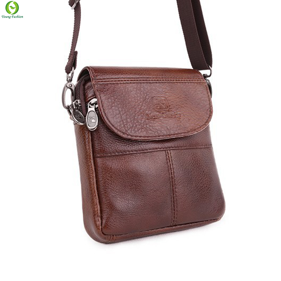 Young fashion the first layer of cow leather mini men messenger bag small single shoulder bag genuine leather men bag crossbody