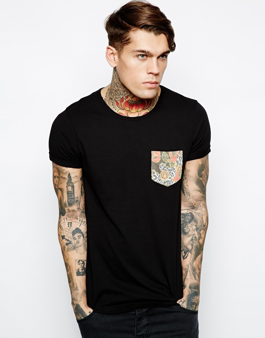 Blank black pocket t shirt wholesale for men buy custom for Model black t shirt