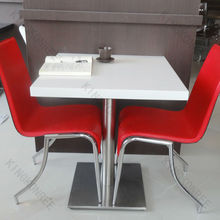 Square Out door Dining cafe furniture chair and table hot sale