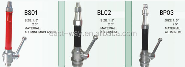British aluminum branch pipe fire nozzle