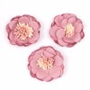hot products pink flower embroidery patch for clothes