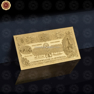 Hot Selling Normal Gold Banknote Australia Money Old Old Edition AUD $1 Arts & Crafts Collection For Wedding Dercoration