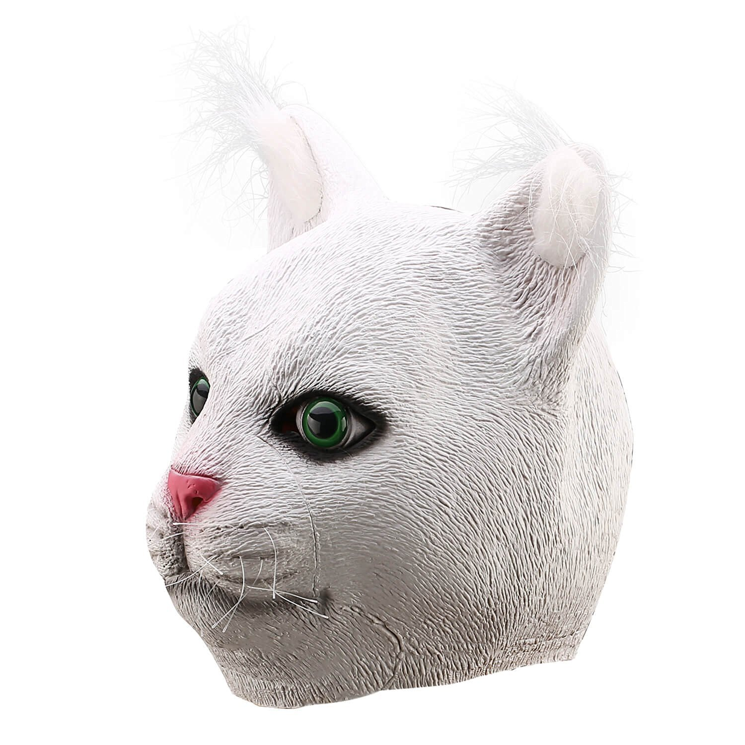 Ylovetoys Latex Cat Mask Animal Head Mask for Halloween Costume Cosplay Party