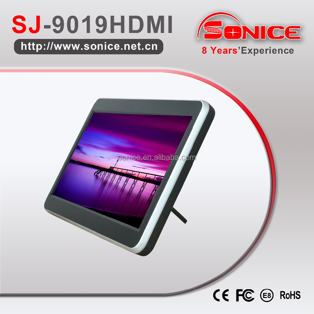 Sonice 9 inch pad touch screen headrest HDMI car monitor cheap price