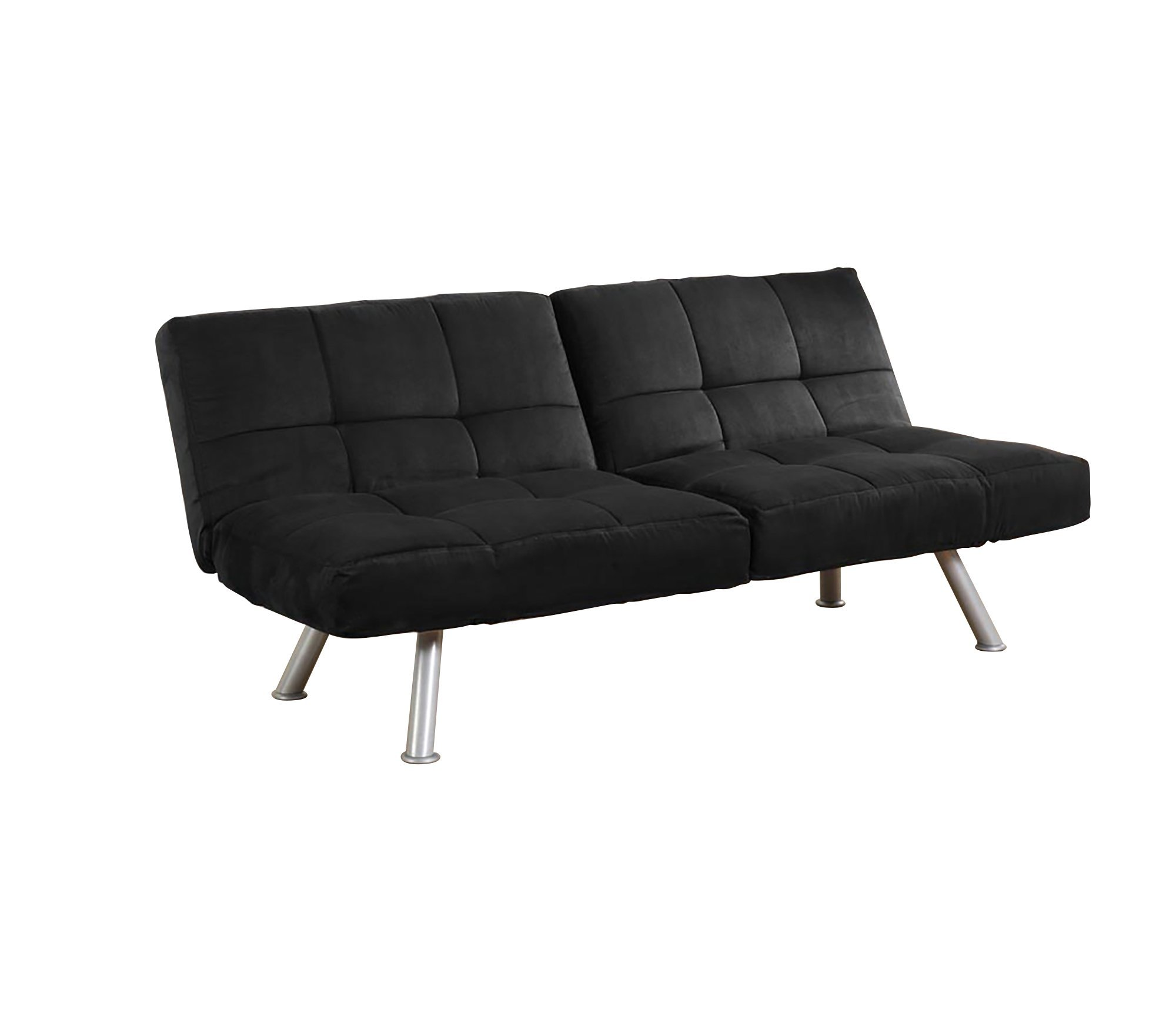 poundex storage leather bed couch collection folding arms the faux black silia espresso in with sofa futon