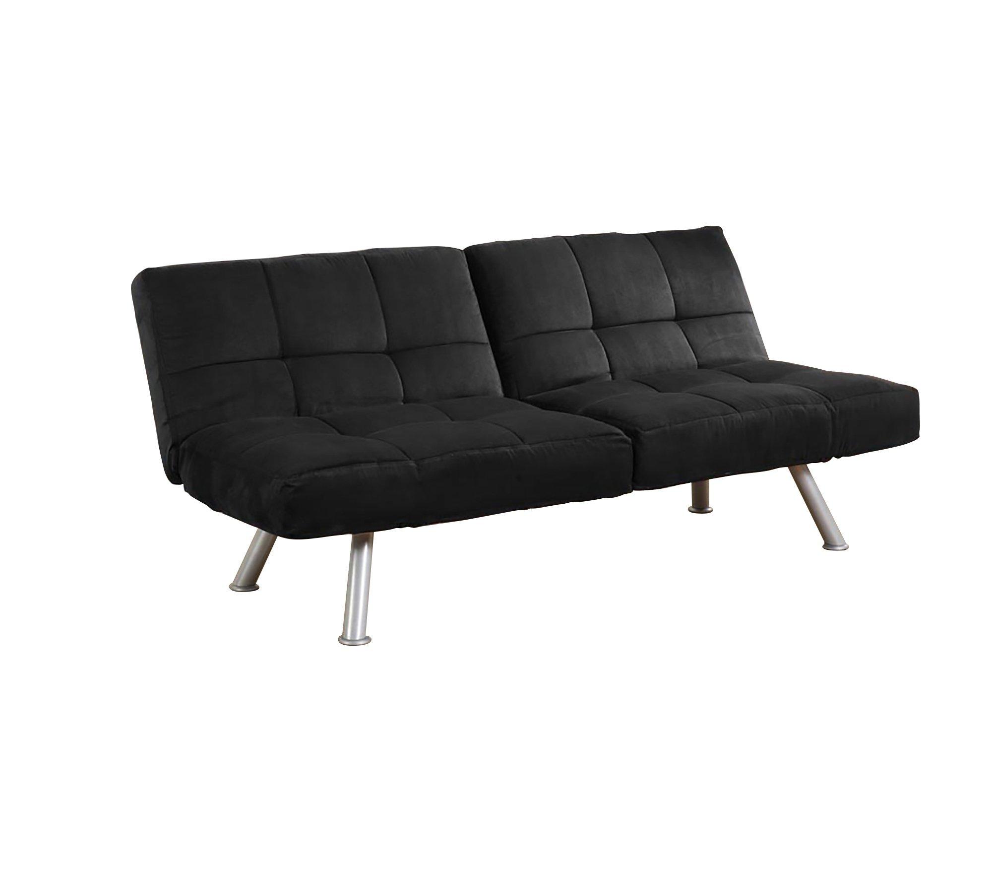 like american bk black leather sundown freight couch plush bed futon sofa