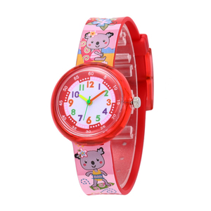Cute Children Kids Watches Analog Time Teacher Silicone Band Cartoon Watch for Little Girls Boys