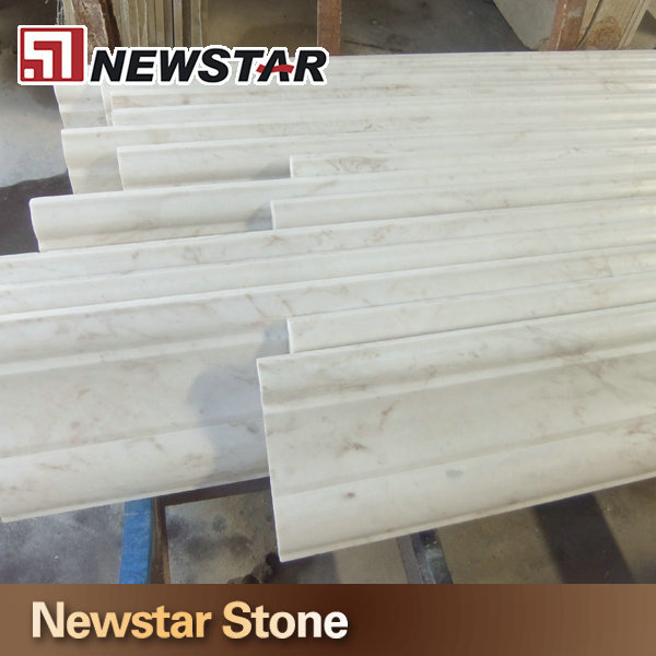 Volakas white marble chair rail,stone moulding,marble crown moulding, View  marble crown moulding, Newstar Product Details from Newstar (Quanzhou)