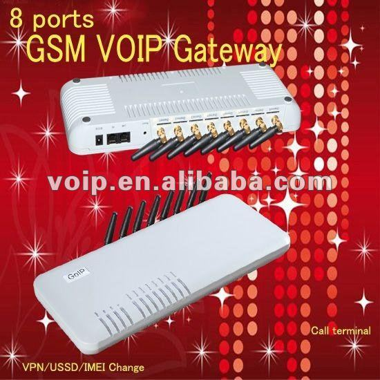 8 ports gsm voip gateway with relay encryption voip phone