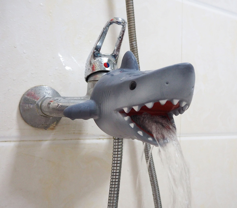 Cartoon kid Shark faucet extender for helps children toddler kids hand washing in the bathroom sink