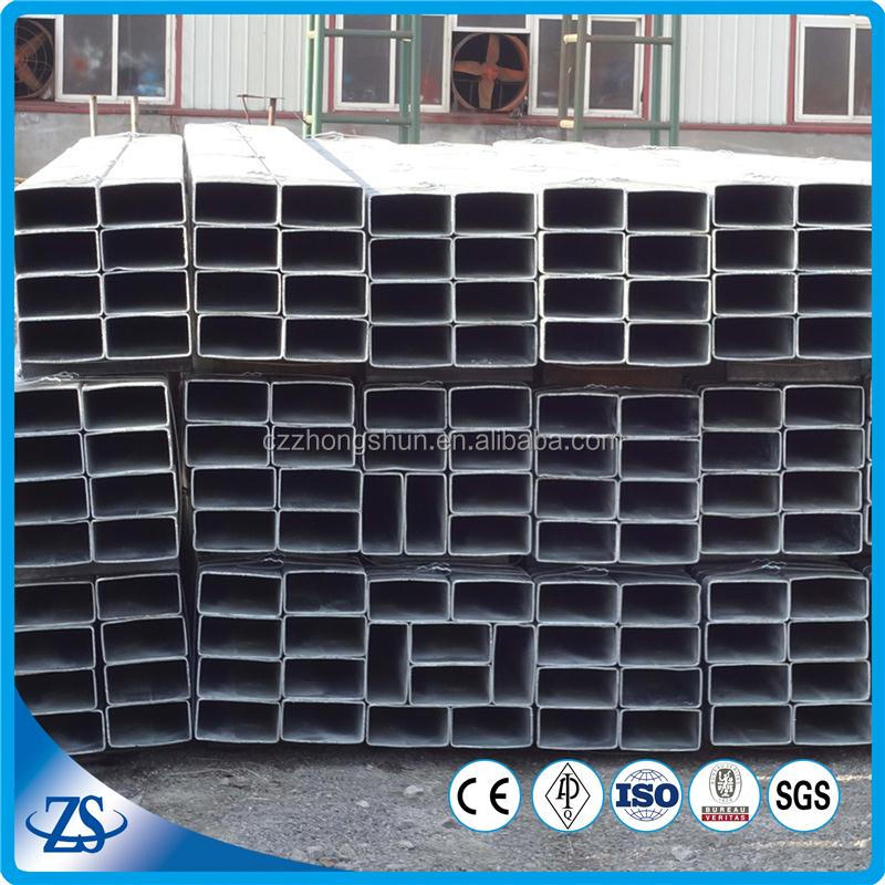 BSEN 10255 standard 600*600 galvanized erw welded rectangular and S.Q steel pipe