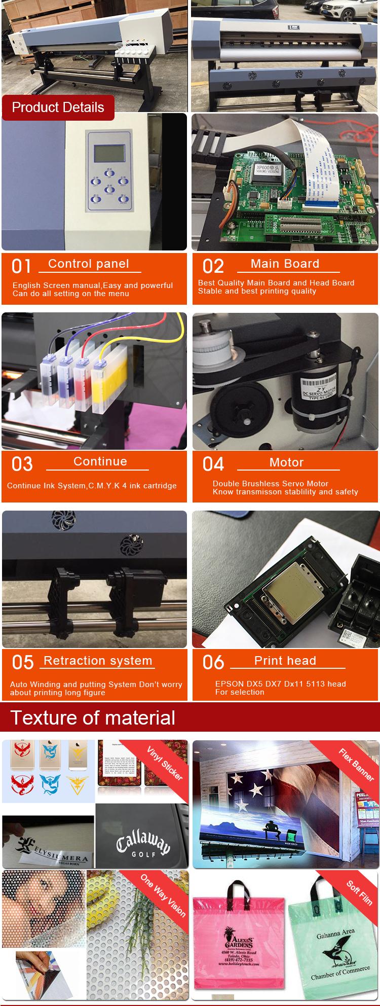 Fabrika fiyat 1.8m eko solvent katlanabilir pankart/vinil/etiket yazıcı BASKI MAKİNESİ