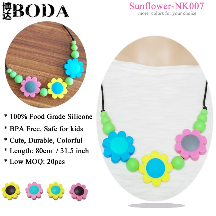 Chew Jewellery Colors Silicone Teething Beads Necklace