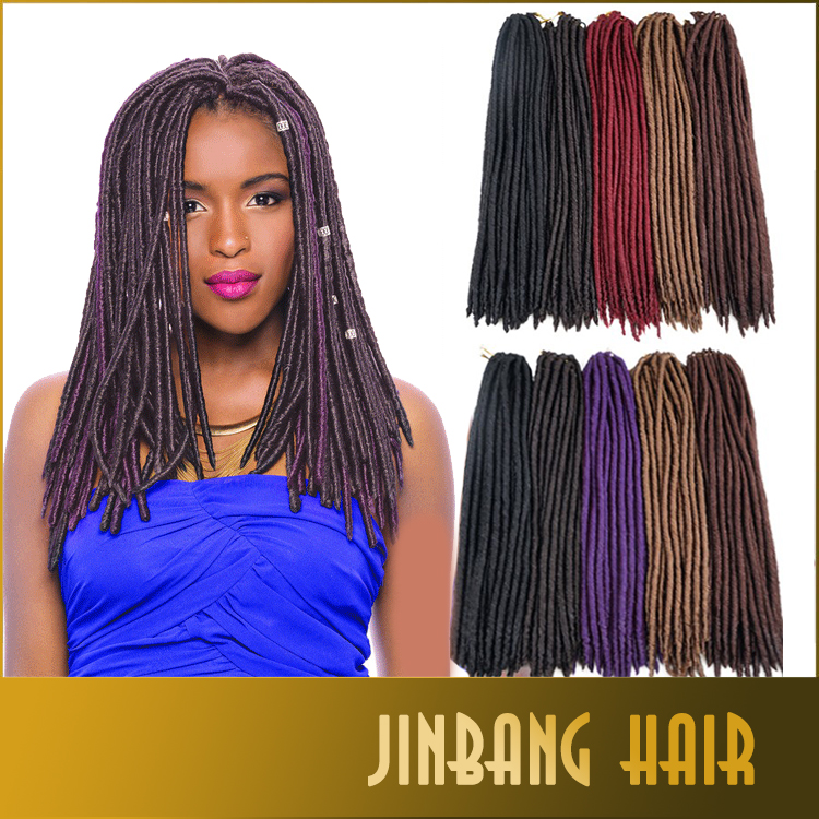Wholesale Synthetic Hair Extension Soft Crochet Braids Twist Faux Locs
