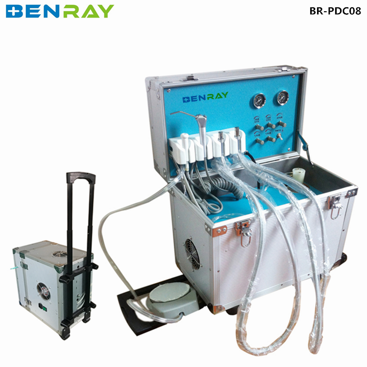 BR-PDC08 portable dental equipment unit case dentist treat instrument case with air compressor