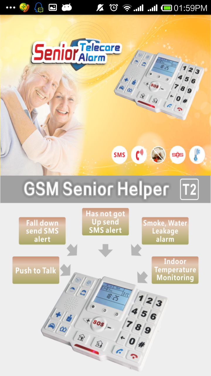 Personal Alarm Device Senior Elderly Guarder Gsm Home Alarm With ...
