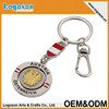 2016 top quality personalized Souvenir spinning Keychain