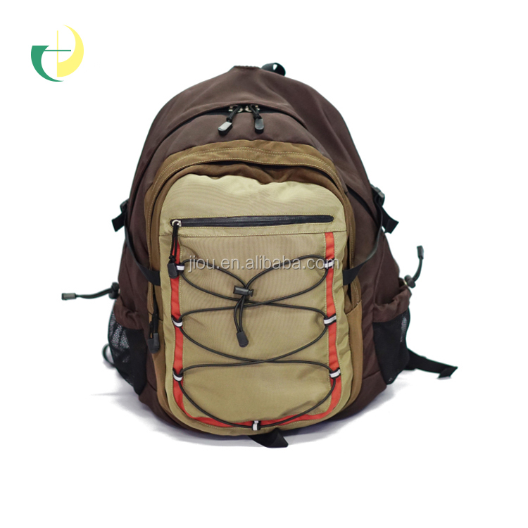 Manufacture trendy middle two sided shoulder bag backpack for camping