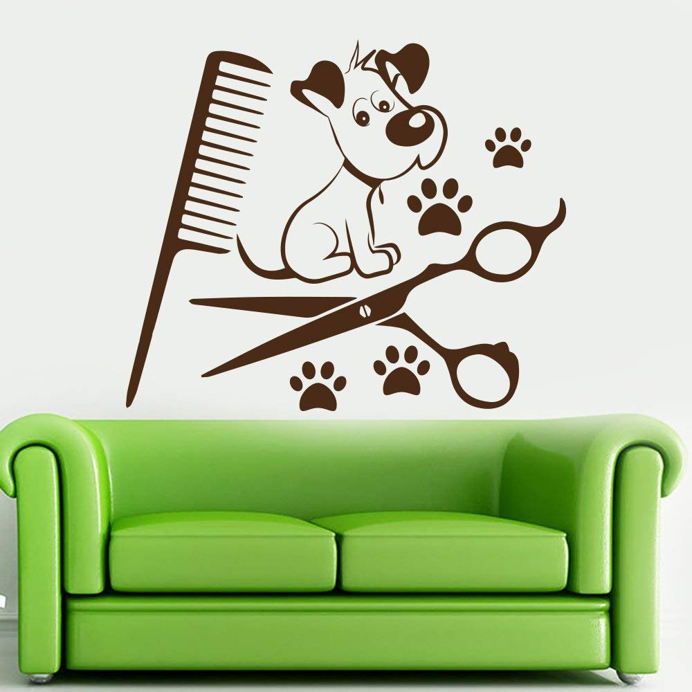 Wall Decal Dog Paws, Dog Decal, Hairdressing Sticker. Dog Paws Decals, Paw Decor, Grooming Salon Decor Sticker, Paw Vinyl Decal, Dog Paws Sticker DM72